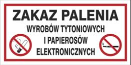 Obrazek dla kategorii Zakaz palenia wyrobów tytoniowych i pap. elektr. (209-22)