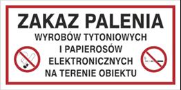 Obrazek dla kategorii Zakaz palenia wyrobów tytoniowych i pap. elektr. na terenie obiektu (209-23)