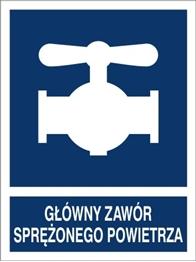 Obrazek dla kategorii Znak Główny zawór sprężonego powietrza (867-03)