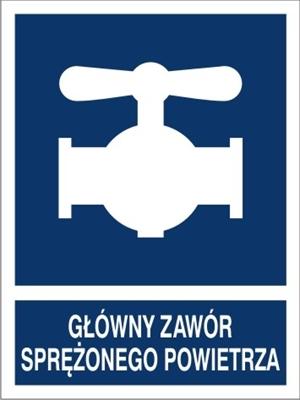 Znak Główny zawór sprężonego powietrza (867-03)