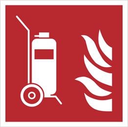 Obrazek dla kategorii Znak gaśnica przewoźna wg PN-EN ISO 7010 (F09)