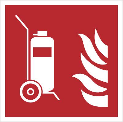 Znak gaśnica przewoźna wg PN-EN ISO 7010 (F09)
