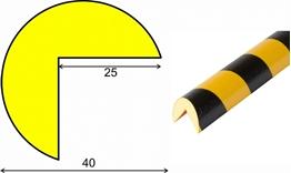 profil elastyczny typ A, do ochrony narożników, długość 1000 mm,  cena za odcinek