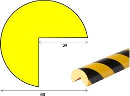 profil elastyczny typ A+, do ochrony narożników, indywidualna długość do 25 metrów cena za 1mb