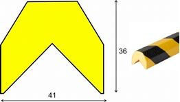 profil elastyczny typ AA, do ochrony narożników, długość 1000 mm cena za odcinek