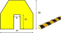 profil elastyczny typ BB, do ochrony krawędzi, długość 5000 mm cena za odcinek