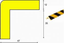 profil elastyczny typ H, do ochrony narożników, indywidualna długość do 50 metrów cena za 1mb