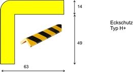 profil elastyczny typ H+, do ochrony narożników, długość 1000 mm cena za odcinek