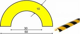 profil elastyczny typ R30, do ochrony rur, długość 1000 mm cena za odcinek
