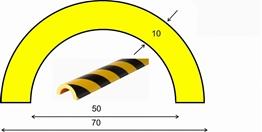 profil elastyczny typ R50, do ochrony rur, długość 5000 mm cena za odcinek
