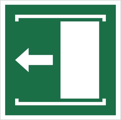 Znak Przesunąć w lewo, aby otworzyć (E34)