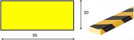 profil elastyczny typ D, do ochrony powierzchni, długość 1000 mm cena za odcinek