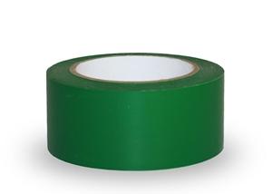 Taśma ostrzegawcza samoprzylepna, 5cm x 33m  - PCV, zielona