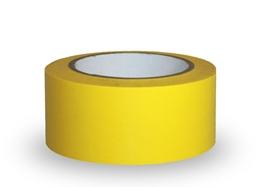 Obrazek Taśma ostrzegawcza samoprzylepna,  5cm x 33m  - PCV, żółta