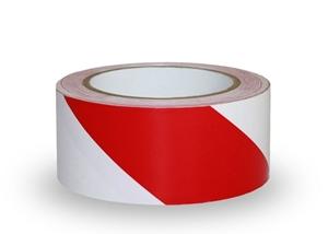 Taśma ostrzegawcza biało czerwona
