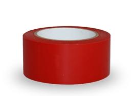 Obrazek Taśma ostrzegawcza samoprzylepna, 5cm x 33m  - PCV, czerwona