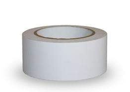 Obrazek Taśma ostrzegawcza samoprzylepna, 5cm x 33m - PCV, biała