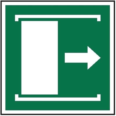 Znak Przesunąć w prawo aby otworzyć (E33)