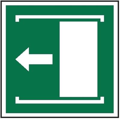 Znak Przesunąć w lewo aby otworzyć (E34)