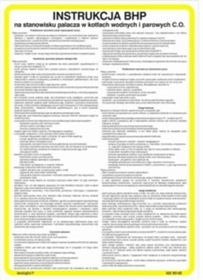 422 XO - 109 Instrukcja przyjęcia środków spożywczych oraz sposób ich magazynowania (422 XO-109)