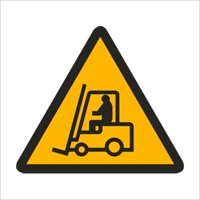 Znak Uwaga pojazd - znak podłogowy