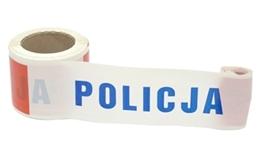 Obrazek Taśma policyjna z PCV, 8,5cm x 100 mb