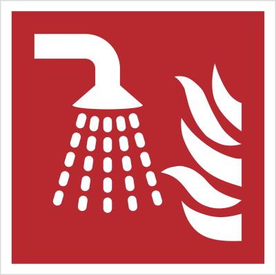 Znak aplikator mgły wodnej wg PN-EN ISO 7010 (F11)