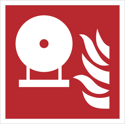 Znak stała butla gaśnicza wg PN-EN ISO 7010 (F13)