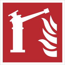 Obrazek dla kategorii Znak działko gaśnicze wg PN-EN ISO 7010 (F15)
