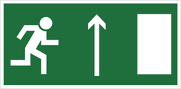 Obrazek dla kategorii Znak Kierunek do wyścia drogi ewakuacyjnej w górę 102-06 (znak uzupełniający)