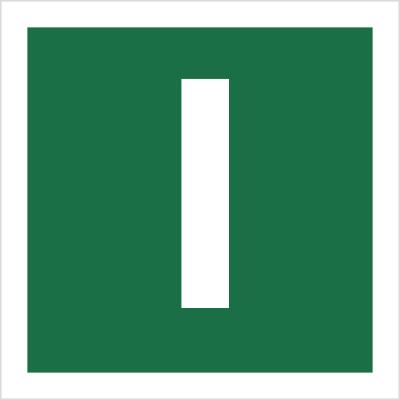 Znak Stacja ewakuacyjna I (120-31)