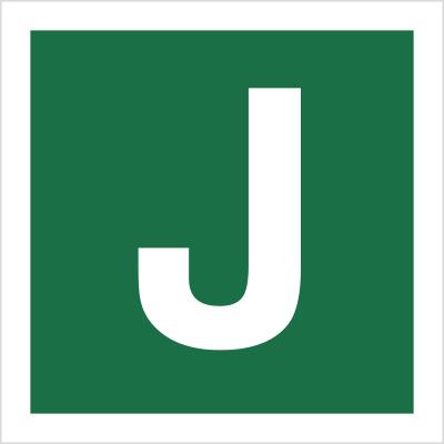 Znak Stacja ewakuacyjna J (120-32)