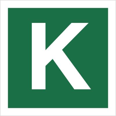 Znak Stacja ewakuacyjna K (120-33)