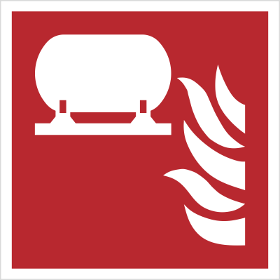 Znak Stała instalacja gaśnicza (F12)