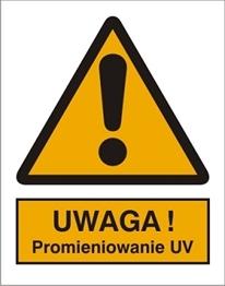 Obrazek dla kategorii Znak Uwaga! Promieniowanie UV (301-17)