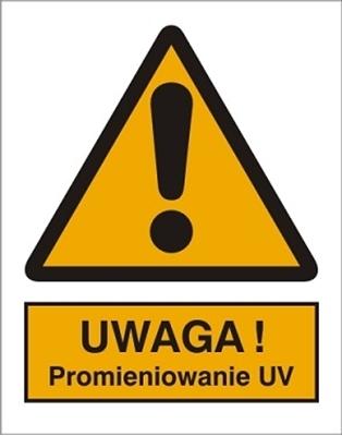 Znak Uwaga! Promieniowanie UV (301-17)