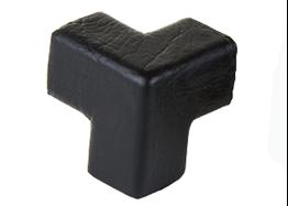 poliuretanowe zabezpieczenie narożnika, typ E, 3-kierunkowy, czarny
