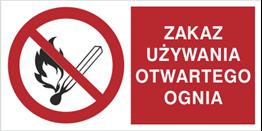 Obrazek dla kategorii Znak Zakaz używania otwartego ognia (210-02)