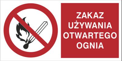 Znak Zakaz używania otwartego ognia (210-02)