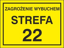 Obrazek dla kategorii Znak Zagrożenie wybuchem strefa 22 (828-19)