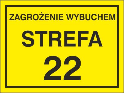 Znak Zagrożenie wybuchem strefa 22 (828-19)