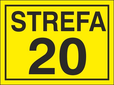 Znak Strefa 20 (828-13)