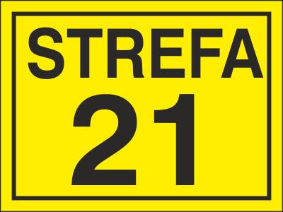 Znak Strefa 21 (828-14)