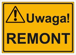 Obrazek dla kategorii Uwaga! Remont (319-07)