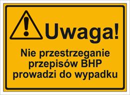 Obrazek dla kategorii Uwaga! Nie przestrzeganie przepisów BHP prowadzi do wypadku (319-31)