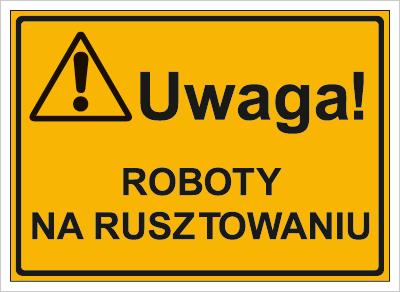 Uwaga! Roboty na rusztowaniu (319-22)