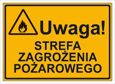 Uwaga!  Strefa zagrożenia pożarowego (319-61)