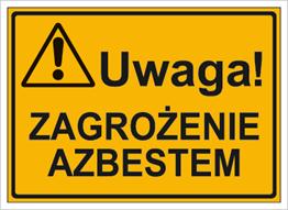 Obrazek dla kategorii Uwaga! Zagrożenie azbestem (319-74)