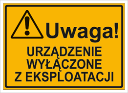 Obrazek dla kategorii Urządzenie wyłączone z eksploatacji (319-84)