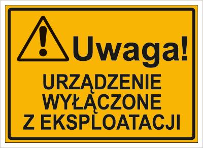 Urządzenie wyłączone z eksploatacji (319-84)